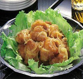 玄米黒酢で鶏もも肉の南蛮漬