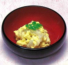 米酢で白身魚の菜種和え