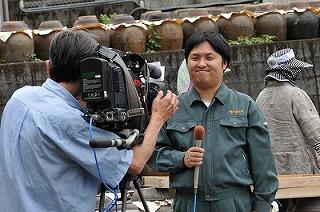 KTS鹿児島テレビの取材