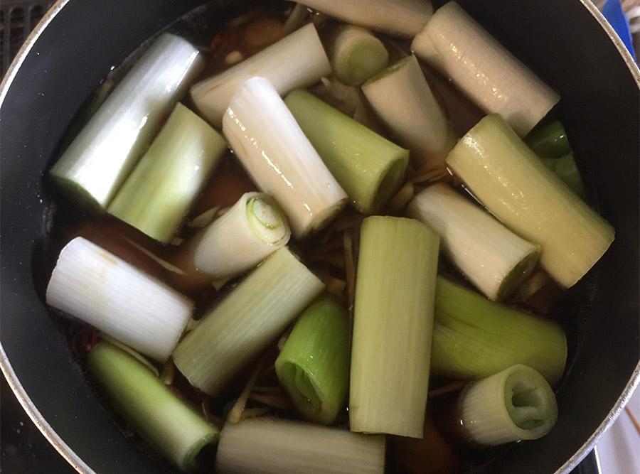 黒酢deやわらか!手羽元と長ねぎのさっぱり煮